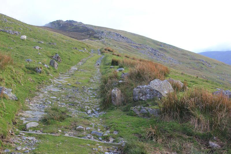 Landrover track leading down from Craig Eigiau
