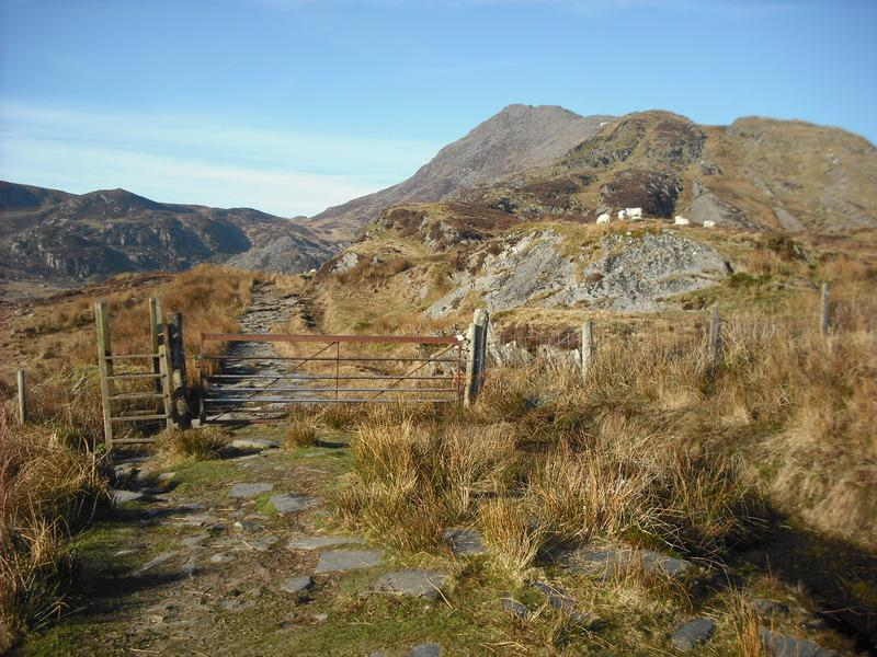 Moel Siabod from the end of the farm track.