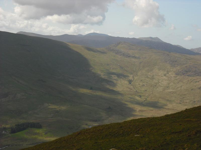 Cnicht and the Moelwyns from Cefen y Capel