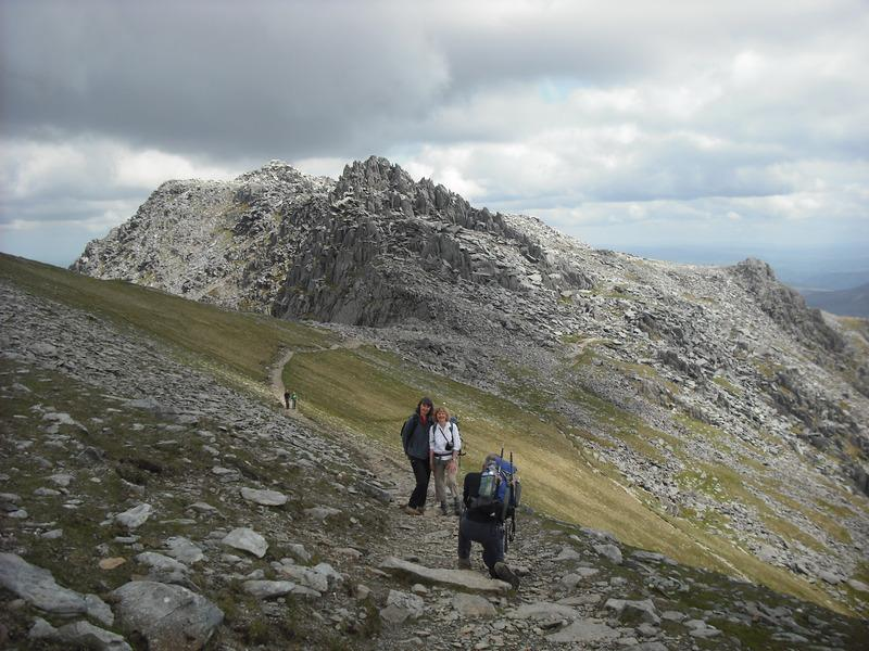 Castle of the Winds from col between Glyder Fach and Glyder Fawr