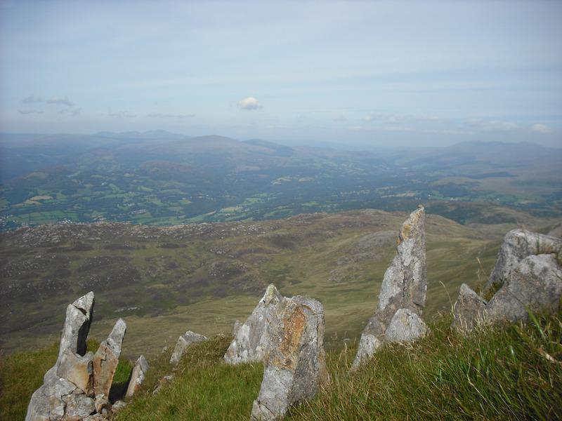 Looking NE from the screes.