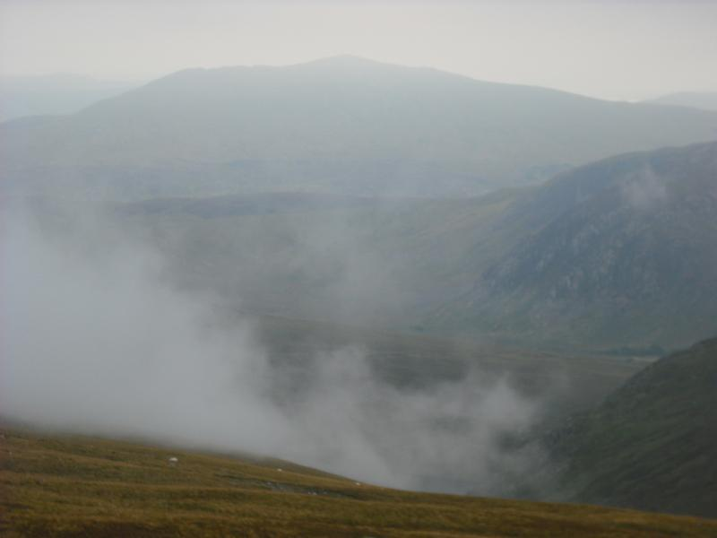 Moel Siabod appears from the mist