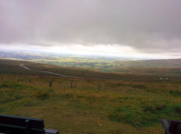 Looking back from Hartside cafe