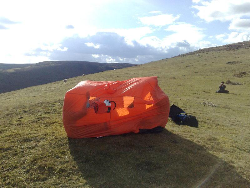 Using the Bothy Bag in the Shropshire Hills.